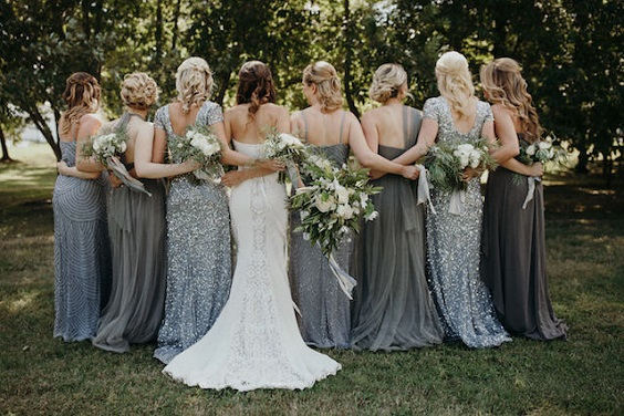 grey bridesmaid dresses for march wedding colors 2022 grey and greenery
