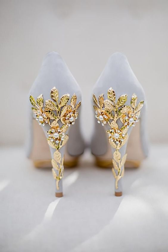 ivory and gold high heels for march wedding colors 2022 ivory and gold