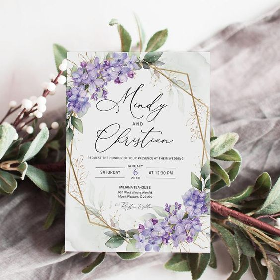 wedding invitation for march wedding colors 2022 mauve and green