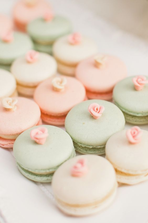 mint green and peach macaroons for march wedding colors 2022 mint green and peach