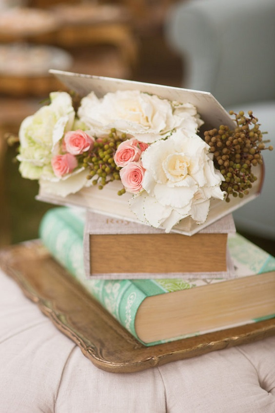 wedding book and florals for march wedding colors 2022 mint green and peach