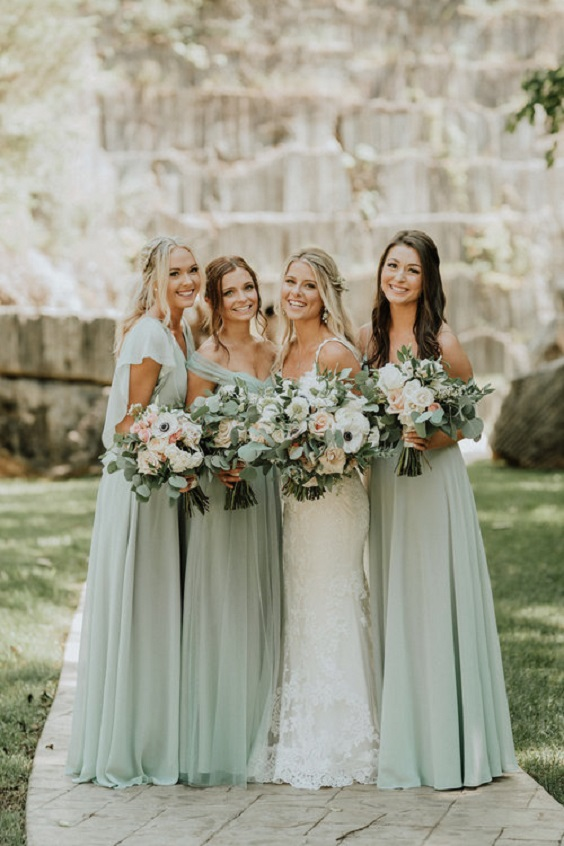 sage green bridesmaid dresses for march wedding colors 2022 sage green and blush