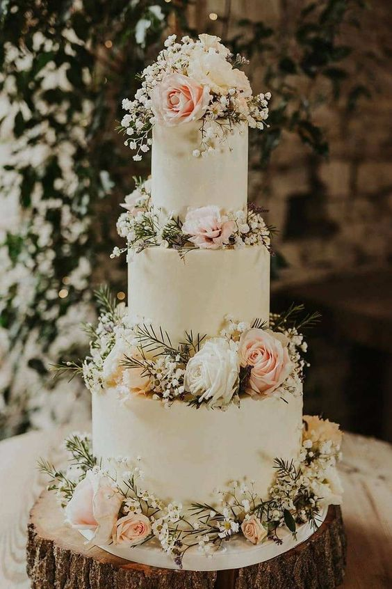 wedding cake with sage green and blush florals for march wedding colors 2022 sage green and blush