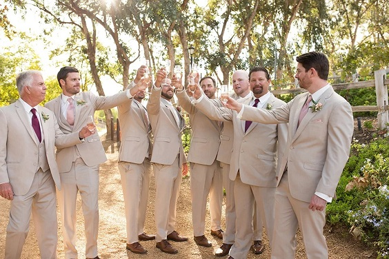champagne men's suits for April wedding colors 2022 dusty rose champagne rose gold