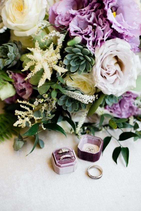 lavender greenery florals for April wedding colors 2022 light pink pale yellow and gold