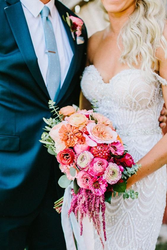 fuschia bouquet for june wedding colors 2022 ice blue and fuschia