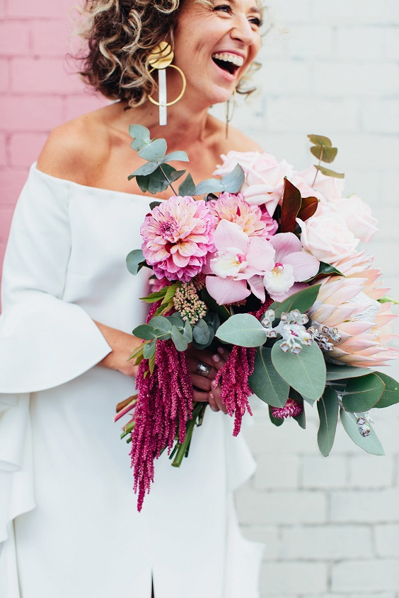 raspberry and blush bouquet for june wedding colors 2022 raspberry and blue