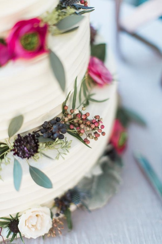 wedding cake for june wedding colors 2022 raspberry and blue