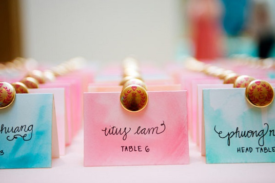 turquoise and pink name card for june wedding colors 2022 turquoise and pink