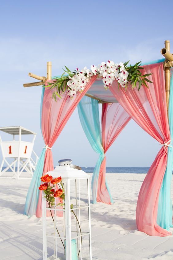 turquoise and pink wedding arch for june wedding colors 2022 turquoise and pink