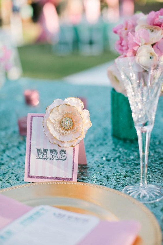turquoise tablecloth and pink napkin for june wedding colors 2022 turquoise and pink