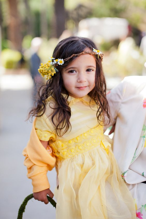 flower girl for june wedding colors 2022 yellow and green