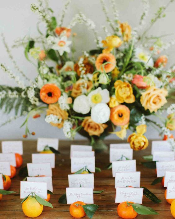 name card and flowers for june wedding colors 2022 yellow and green