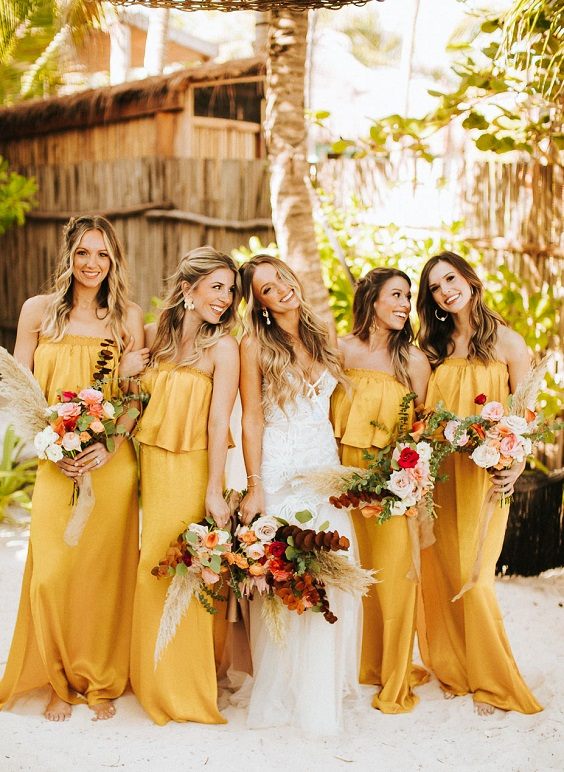 yellow bridesmaid dress for june wedding colors 2022 yellow and green