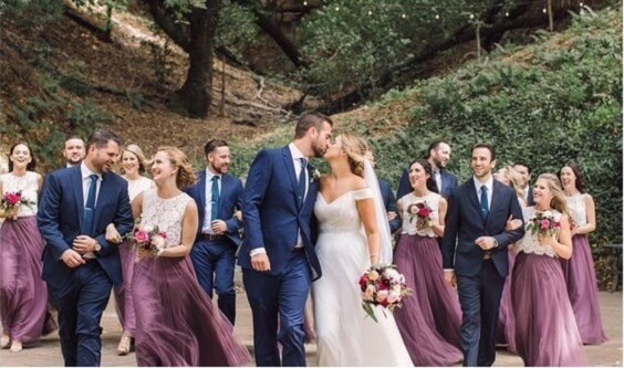 navy blue mens suits and mauve bridesmaid dresses for fall wedding colors 2022 mauve and navy