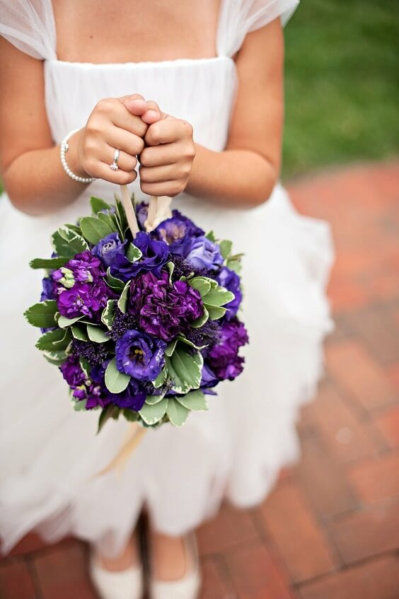 purple pomanders for fall wedding colors 2022 purple and yellow