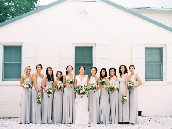 grey bridesmaid dresses for fall wedding colors 2022 green and grey