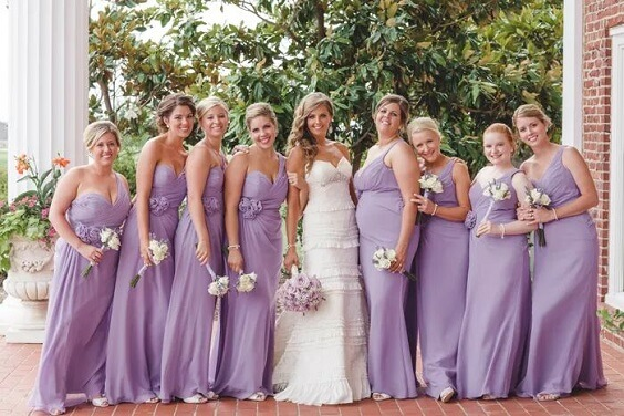 white and lavender bouquet lavender bridesmaiddress for fall wedding colors for 2022 lavender and apricot