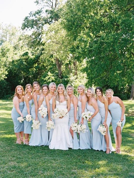 light blue bridesmaid dresses for summer wedding color 2022 light blue and white