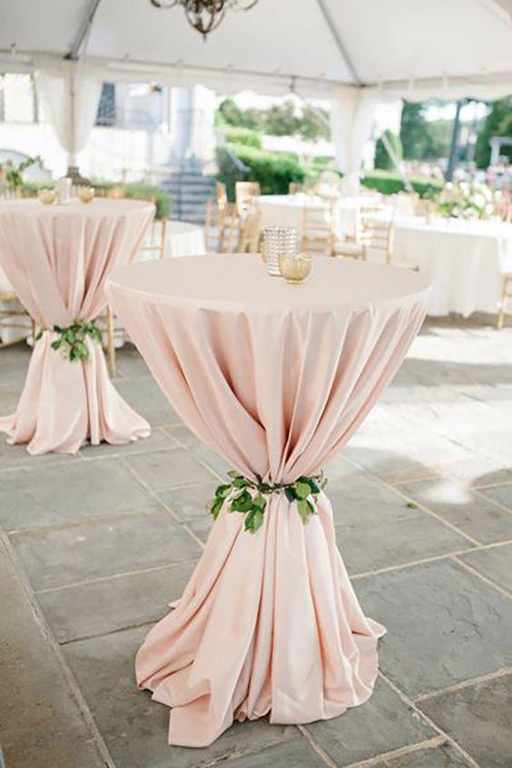 blush wedding tablecloth sage leaves for summer wedding color 2022 blush and sage