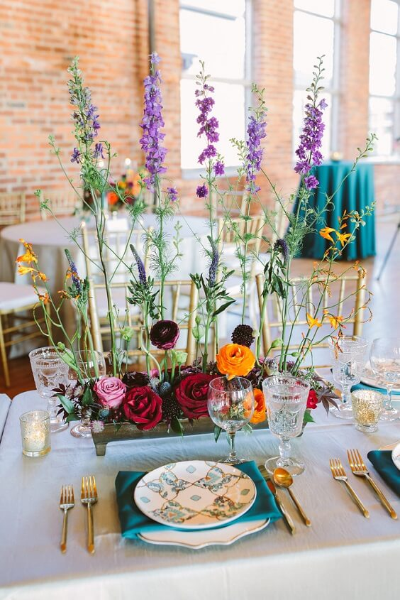 teal and orange wedding centerpieces for fall wedding colors for 2022 teal and orange