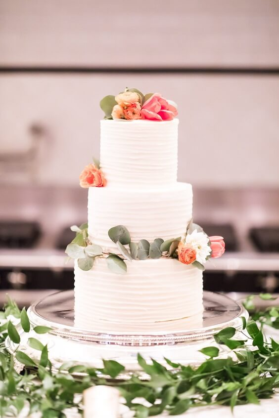 wedding cake with orange flowers for fall wedding colors for 2022 teal and orange