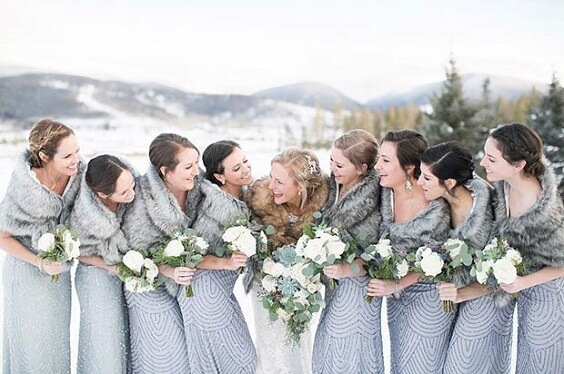 grey bridesmaid dresses for winter wedding colors 2022 grey and pink