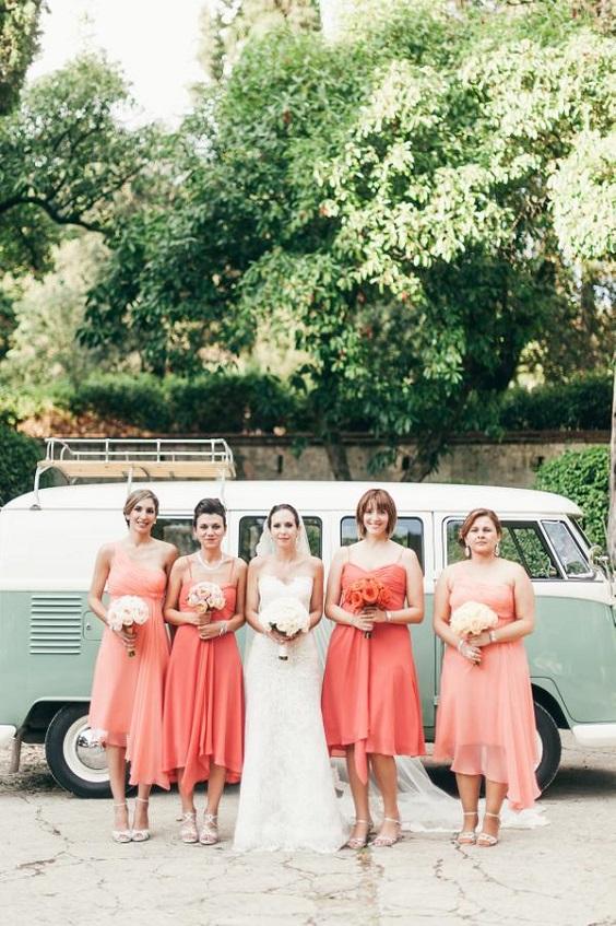 coral bridesmaid dresses peach bridesmaid dresses for spring wedding colors 2022 coral peach sage colors