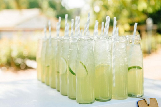 sage wedding drinks for spring wedding colors 2022 coral peach sage colors