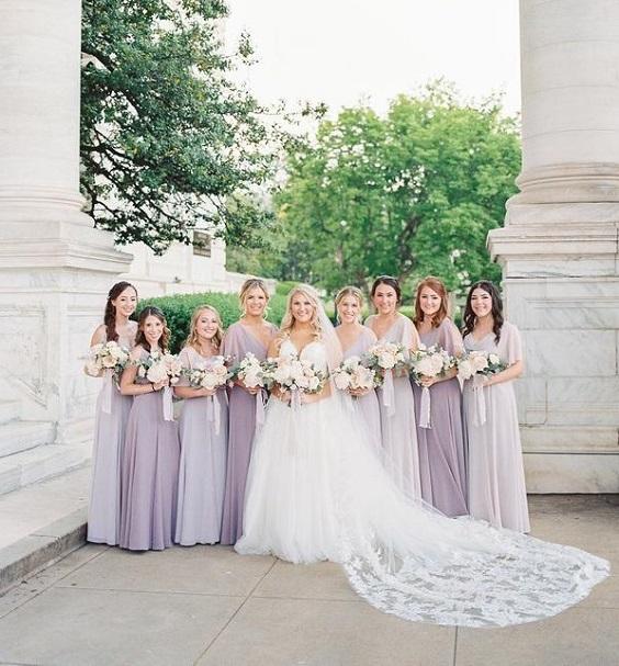 lilac bridesmaid dresses lavender bridesmaid dresses for spring wedding colors lilac lavender white color