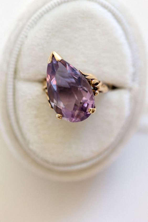 wedding ring for spring wedding colors lilac lavender white colors