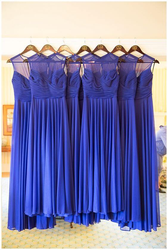 Bright Royal Blue And Metallic Silver Winter Wedding Color Ideas Colorsbridesmaid