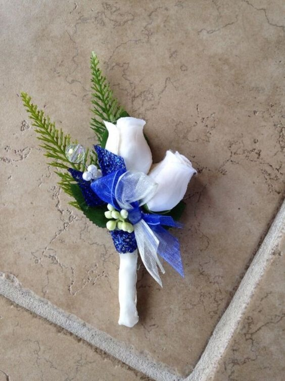 Bright Royal Blue And Metallic Silver Winter Wedding Color Ideas