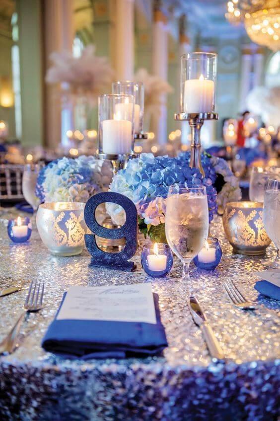 Bright Royal Blue and Metallic Silver Winter Wedding Color Ideas ...