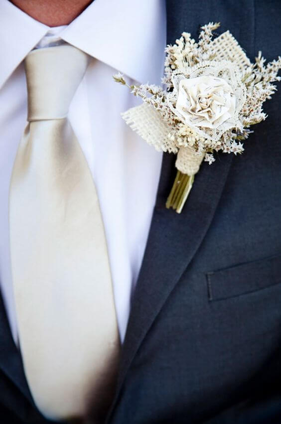 Groom for Navy blue and Champagne Winter wedding