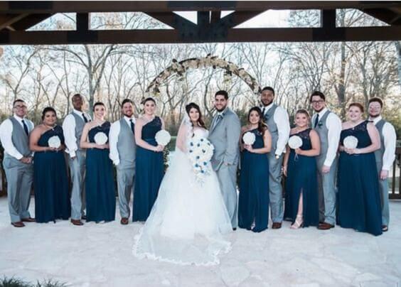 Navy Blue Wedding.Elegant Navy Blue And Grey Winter Wedding Color Inspirations