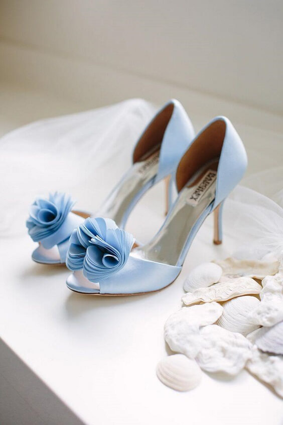 Wedding shoes for Blush and dusty blue wedding