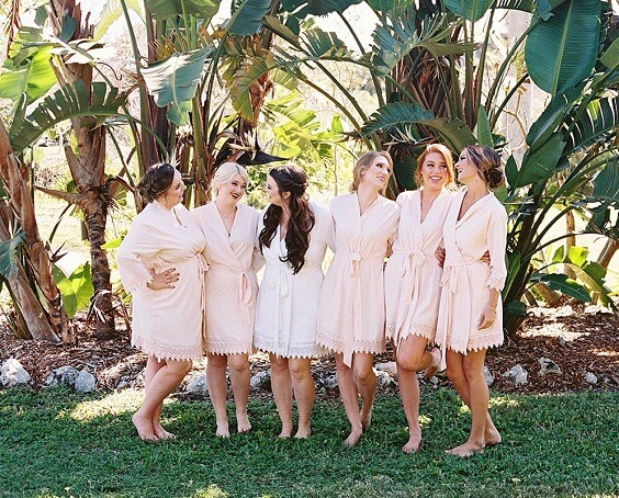 Robes for dusty rose and dusty blue wedding
