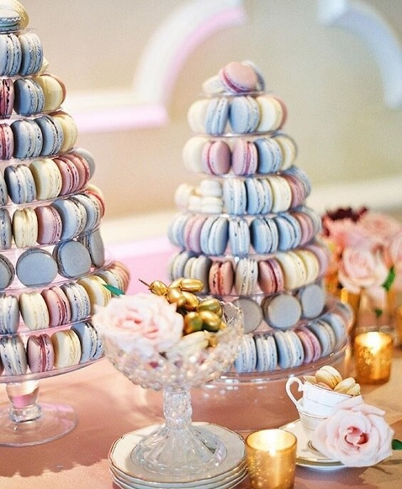 Wedding biscuits for dusty rose and dusty blue wedding