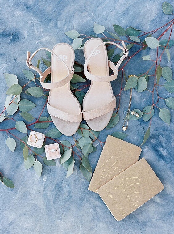 Wedding shoes for dusty rose and dusty blue wedding