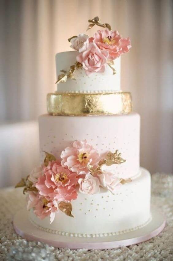 Brilliant Dusty Rose and Gold Wedding Color Inspirations