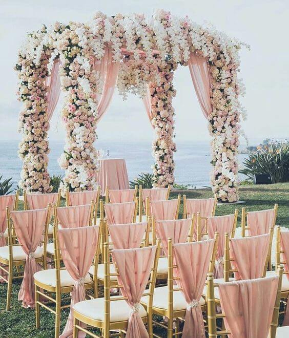 Brilliant Dusty Rose and Gold Wedding Color Inspirations ...