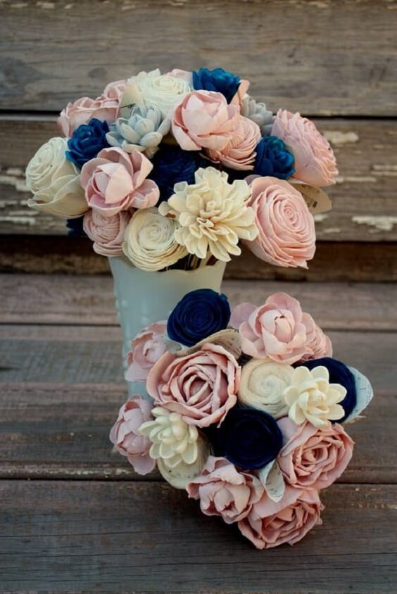 5df64f54ed Refined Dusty Rose and Navy Blue Wedding Color Ideas - ColorsBridesmaid