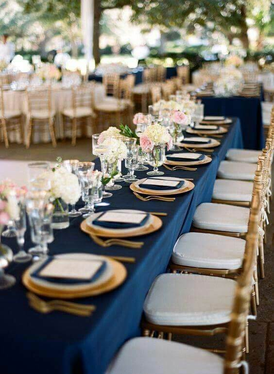 Refined Dusty Rose And Navy Blue Wedding Color Ideas Colorsbridesmaid