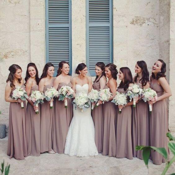 Bridesmaid dresses for Mauve March wedding