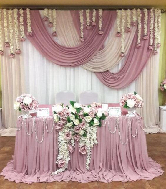 Wedding decorations for Mauve March wedding