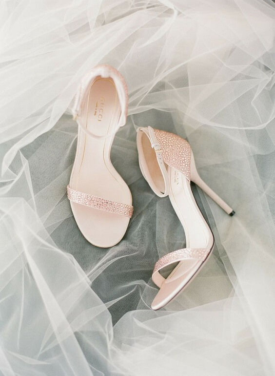 pale pink wedding heels for spring dusty rose wedding