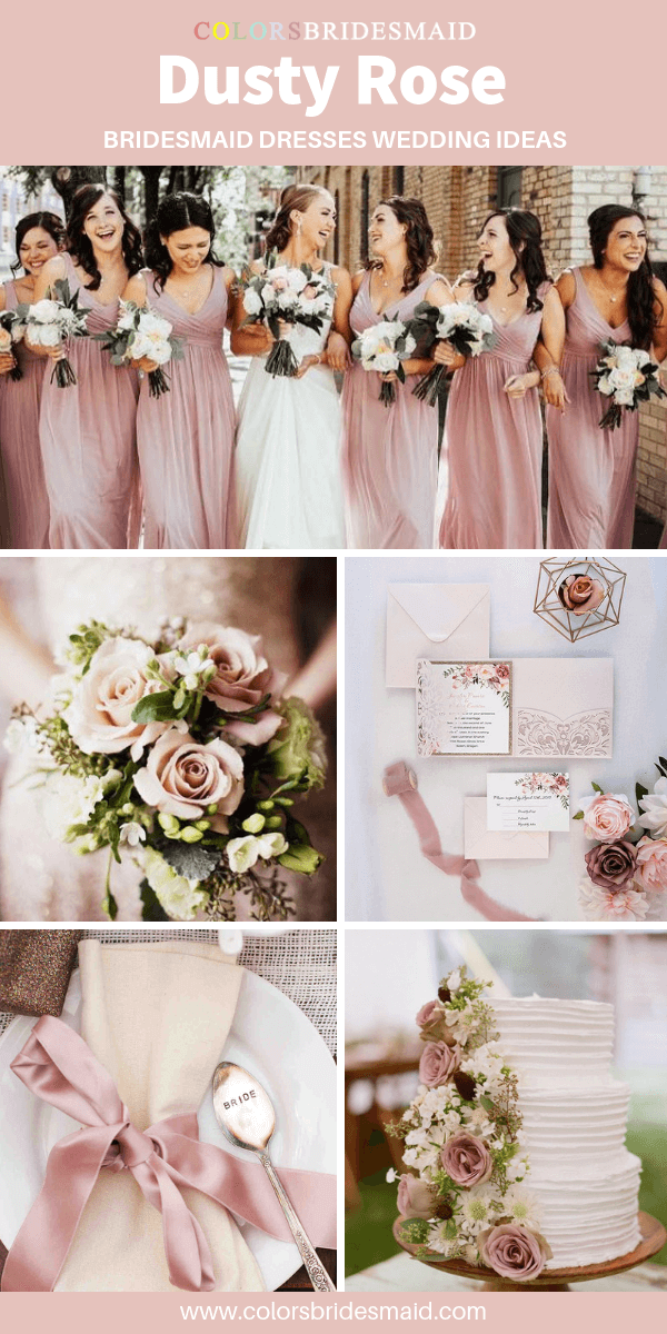 All 20 Dusty Rose Wedding Color Palettes Colorsbridesmaid