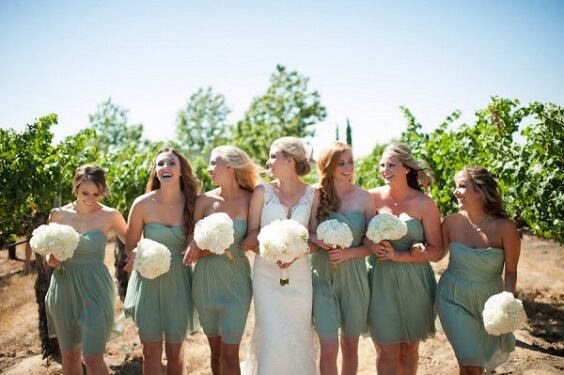 sage green bridesmaid dresses for summer sage green and white wedding