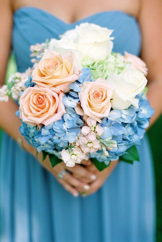 Cute Cornflower Blue And Peach Wedding Color Ideas Colorsbridesmaid